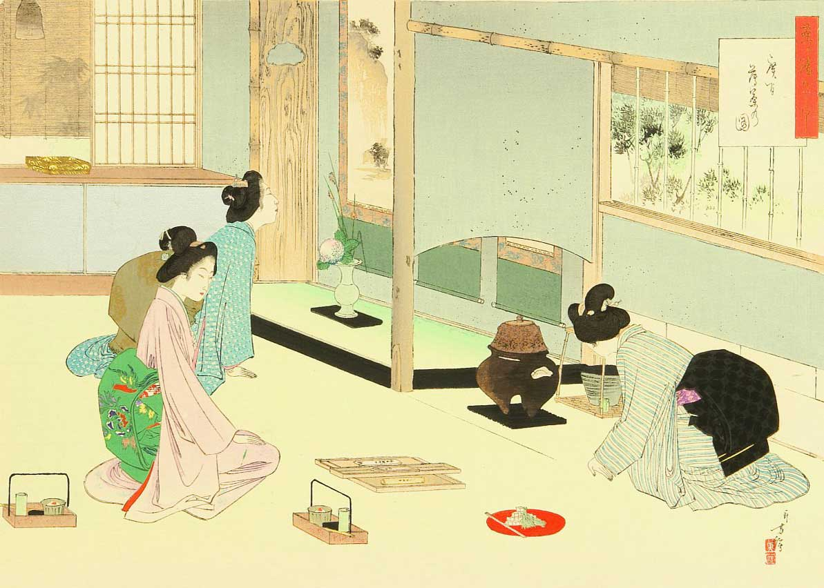 © Mizuno Toshikata, The Tea Ceremony, 1900s