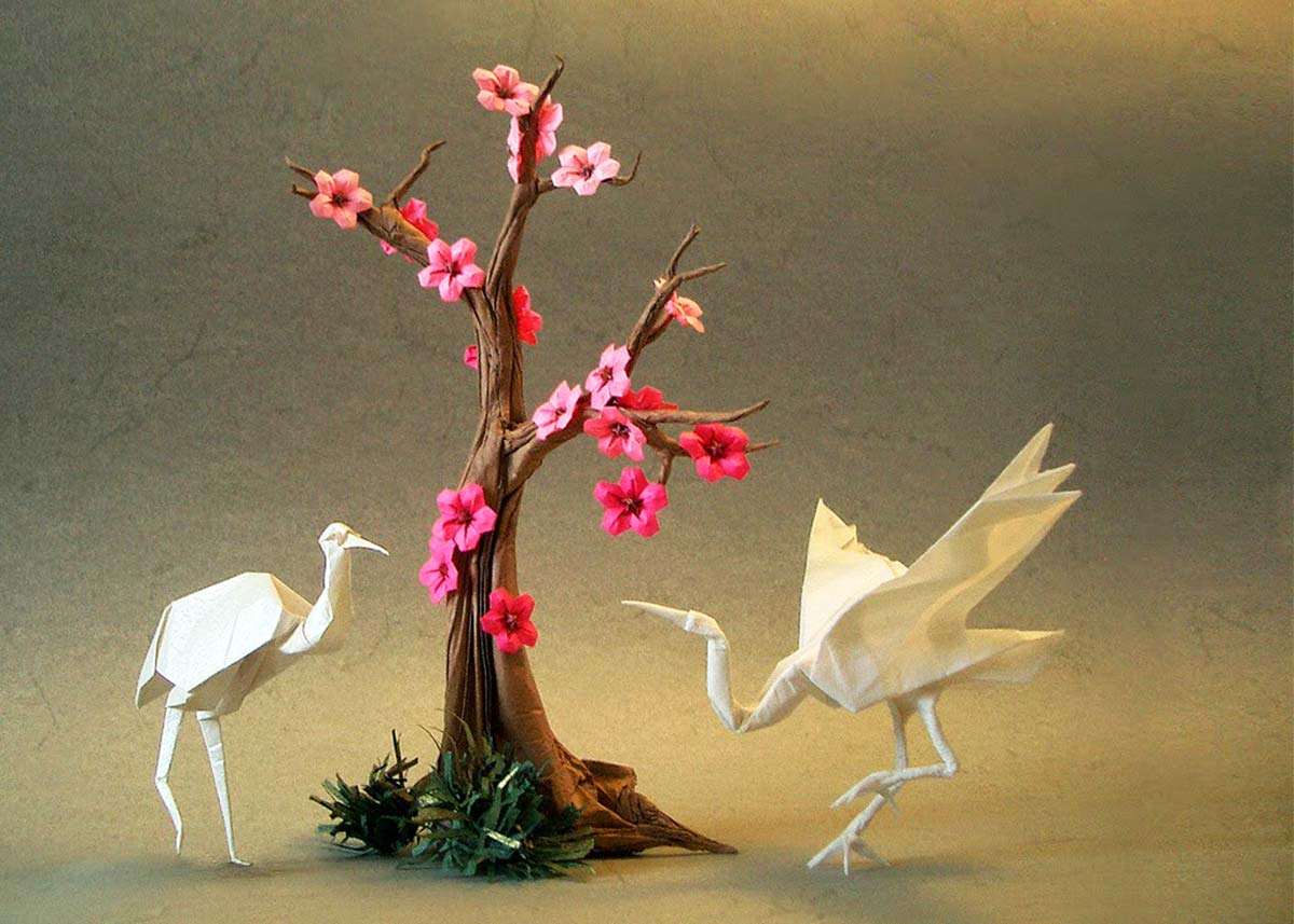 Crane Origami (difficult model) - OrigamiArt.Us | 714x1000