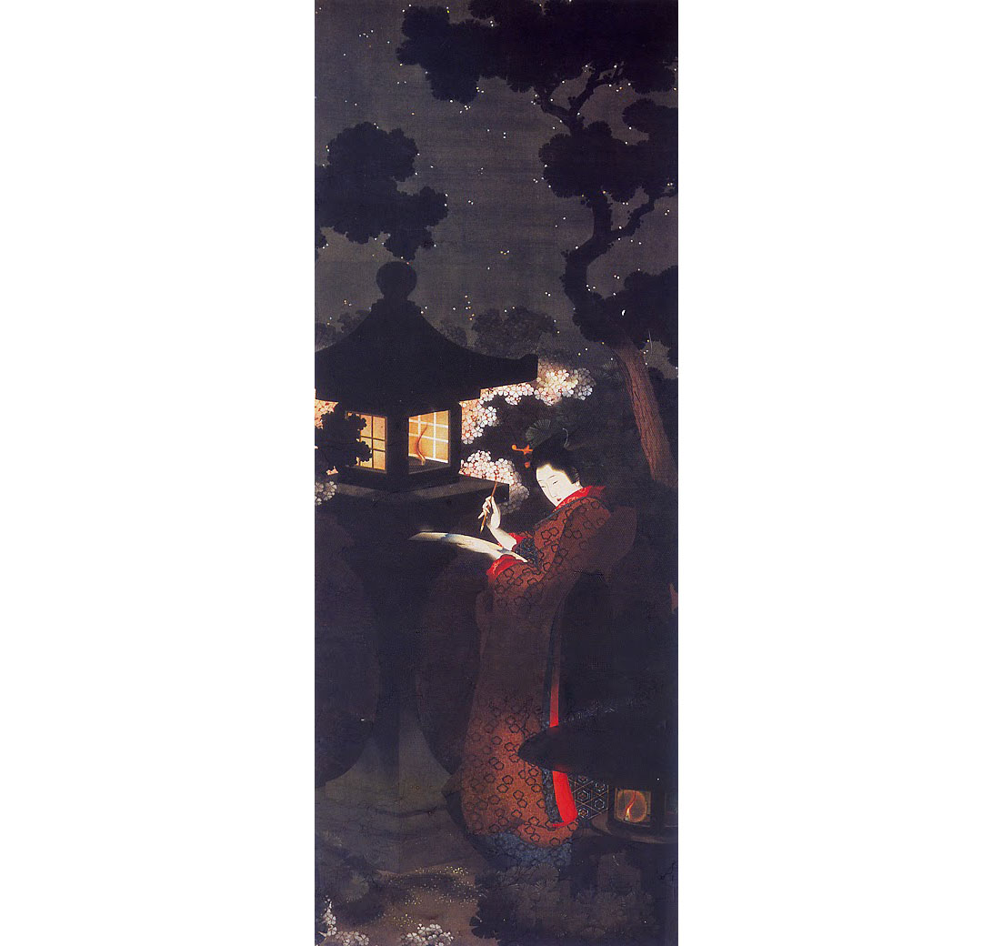 Cherry Blossoms at Night, by Katsushika Oi, 1850