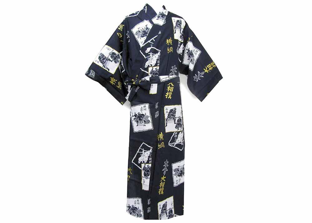 Kimono Japan Mens Easy Yukata Robe Basic Sleeves MYS-BS