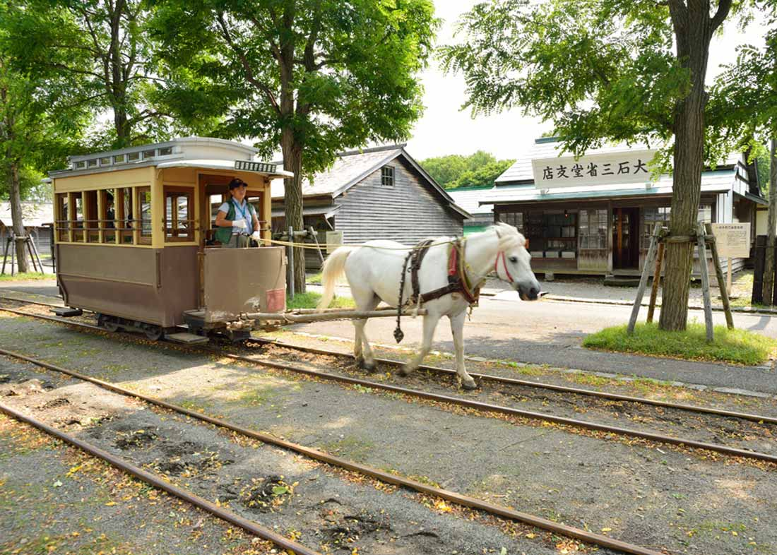 ©  Sapporo Travel , Hokkaido Historical Village Horse-Drawn Carriage