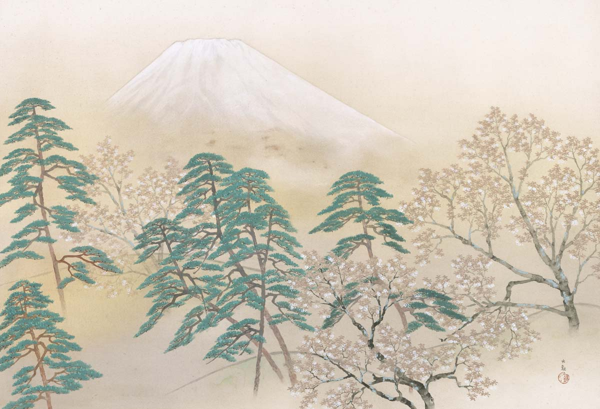 Spring from the Four Views of Mt. Fuji by Taikan Yokoyama, 1940, Museum of Modern Art, Ibaraki