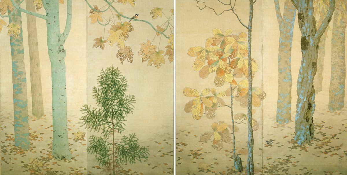 Fallen Leaves by Shunso Hishida, 1909, Museum of Modern Art, Ibaraki