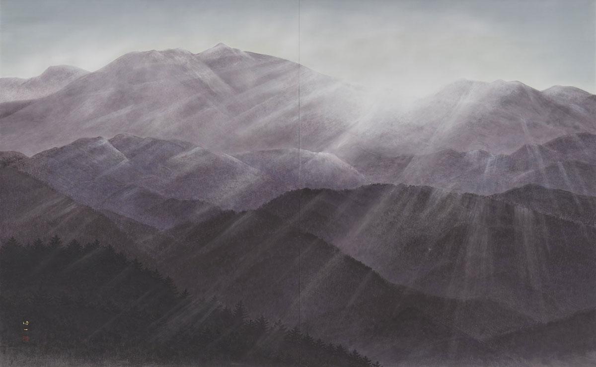 Morning Mountain Range by Koichi Nabatame © 2018 Japan Art Institute.