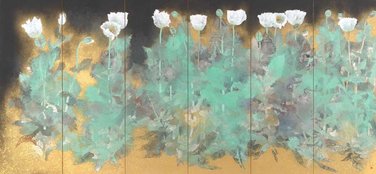 Poppies by Koji Matsumura © 2018 Japan Art Institute.
