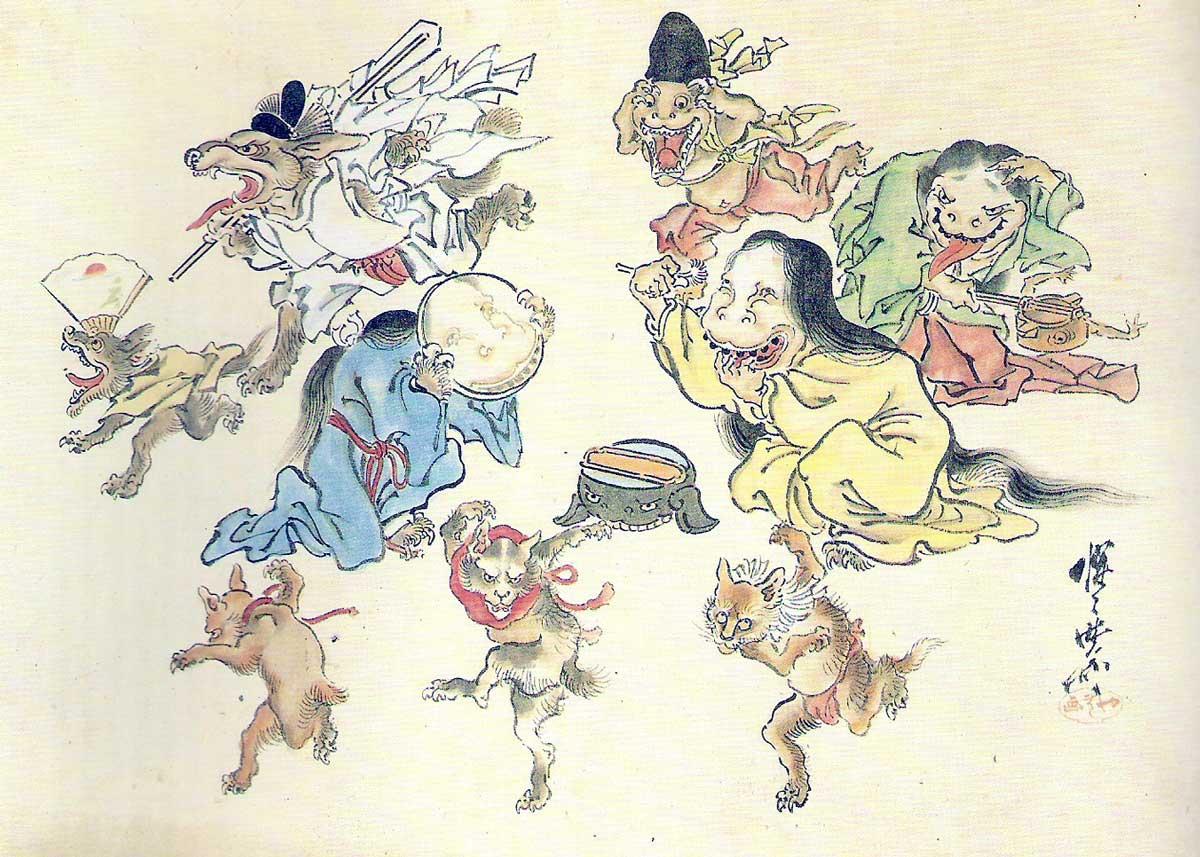 Hyakki Yako by Kawanabe Kyosai, 19th Century