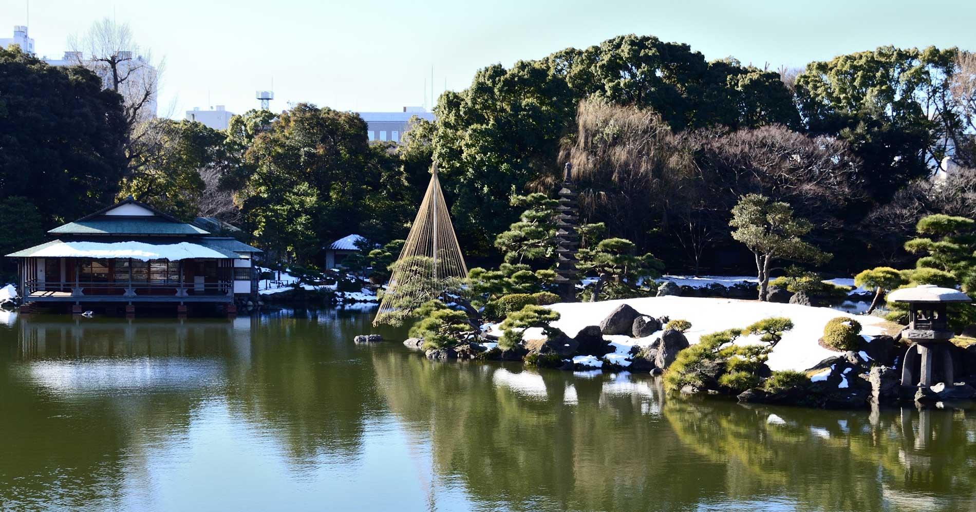Snow in Kiyosumi Garden
