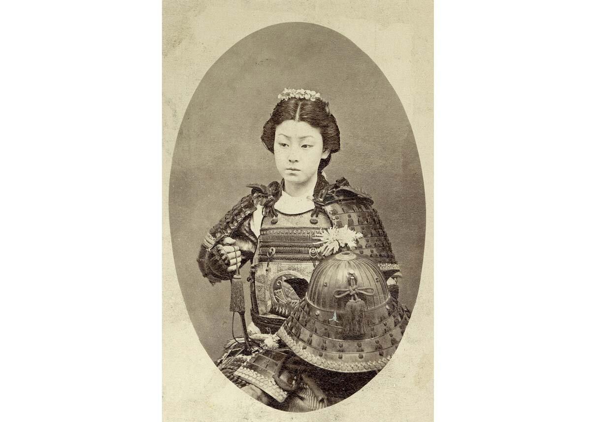 An Actor Posing in Samurai Armor, 1870s
