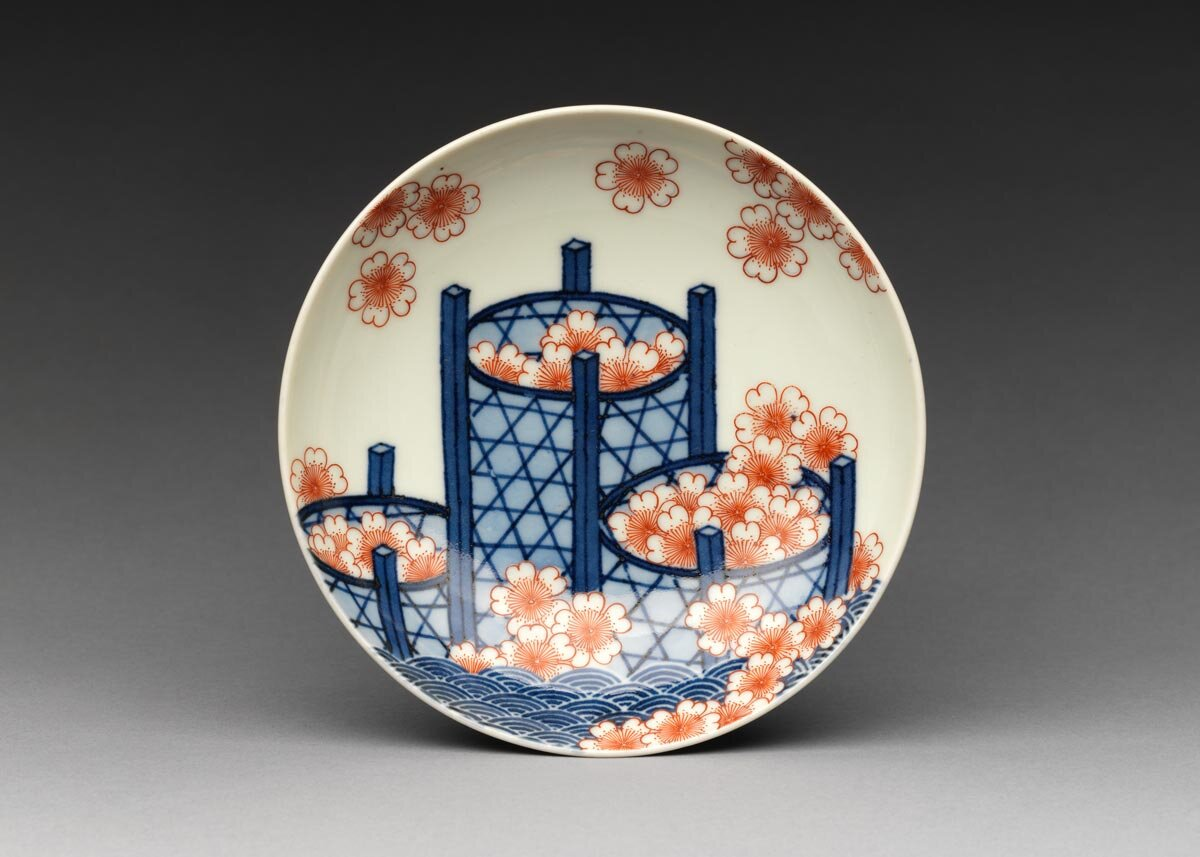 Small Dish with Cherry Blossoms,  the Met Museum