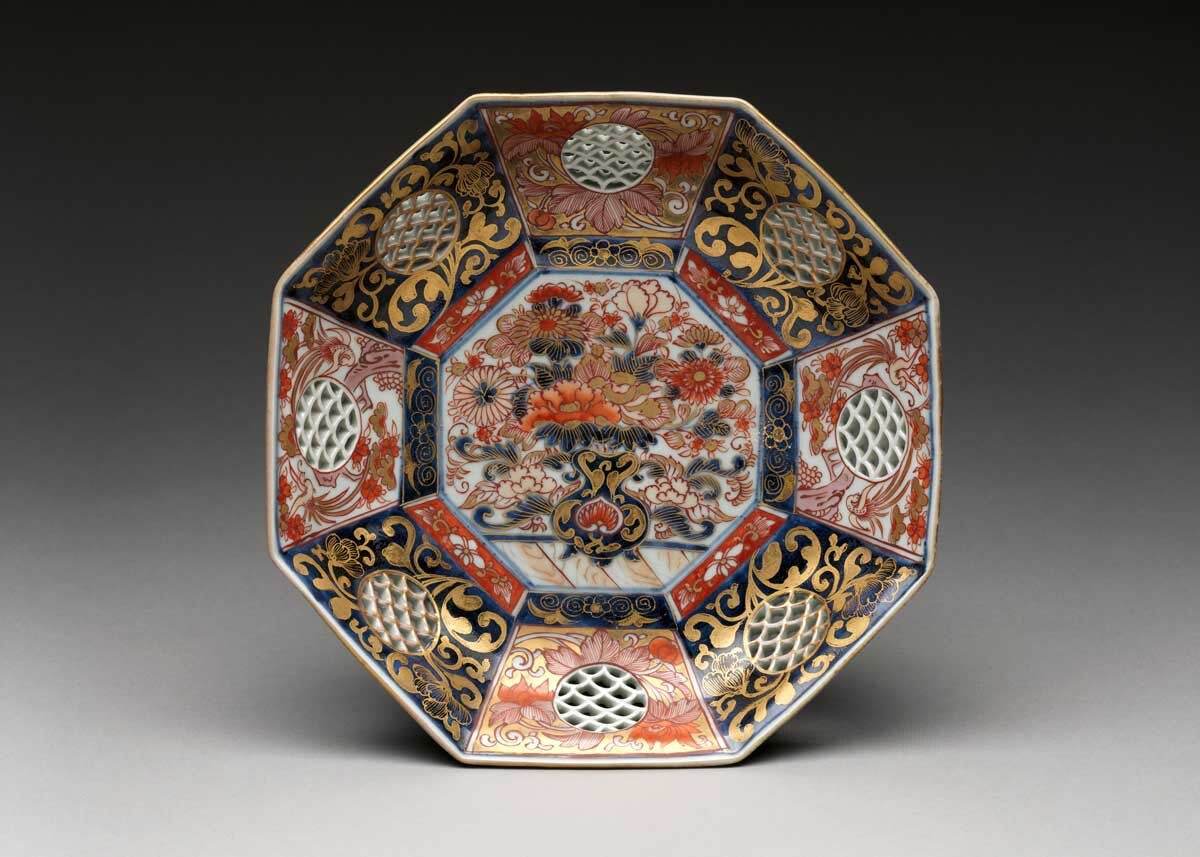 Japanese Plate Made for Export, 1770,  the Met Museum