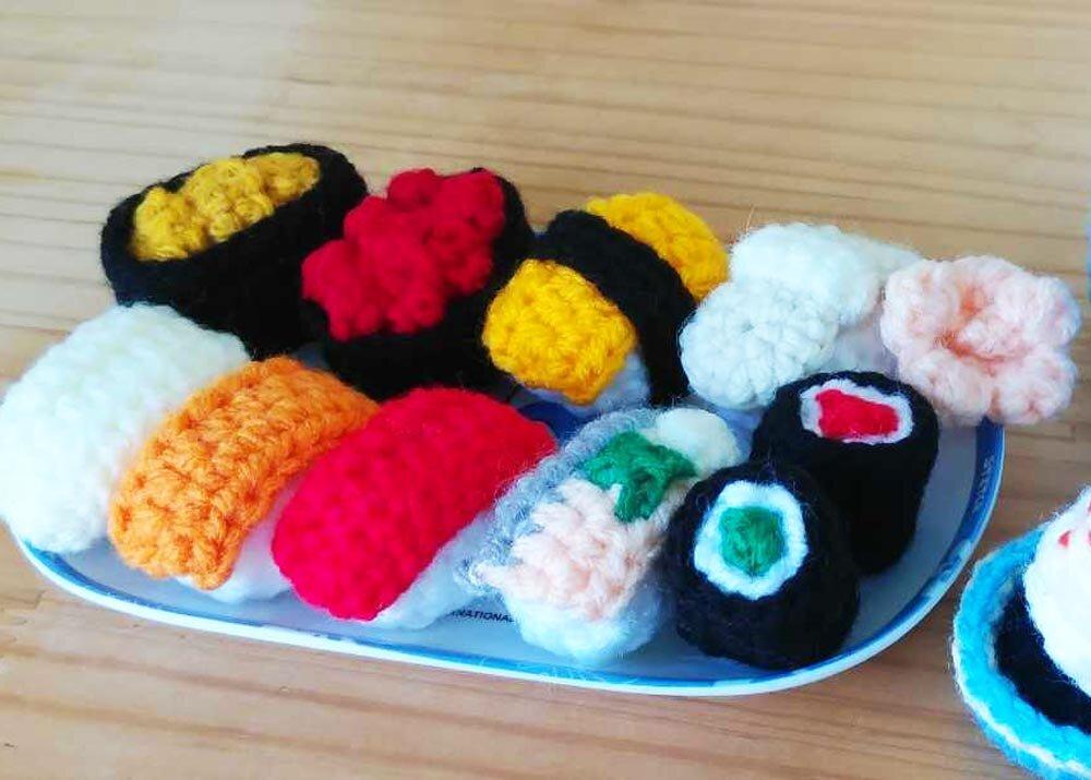 Japanese food set Kawaii amigurumi crochet | Etsy | 715x1000