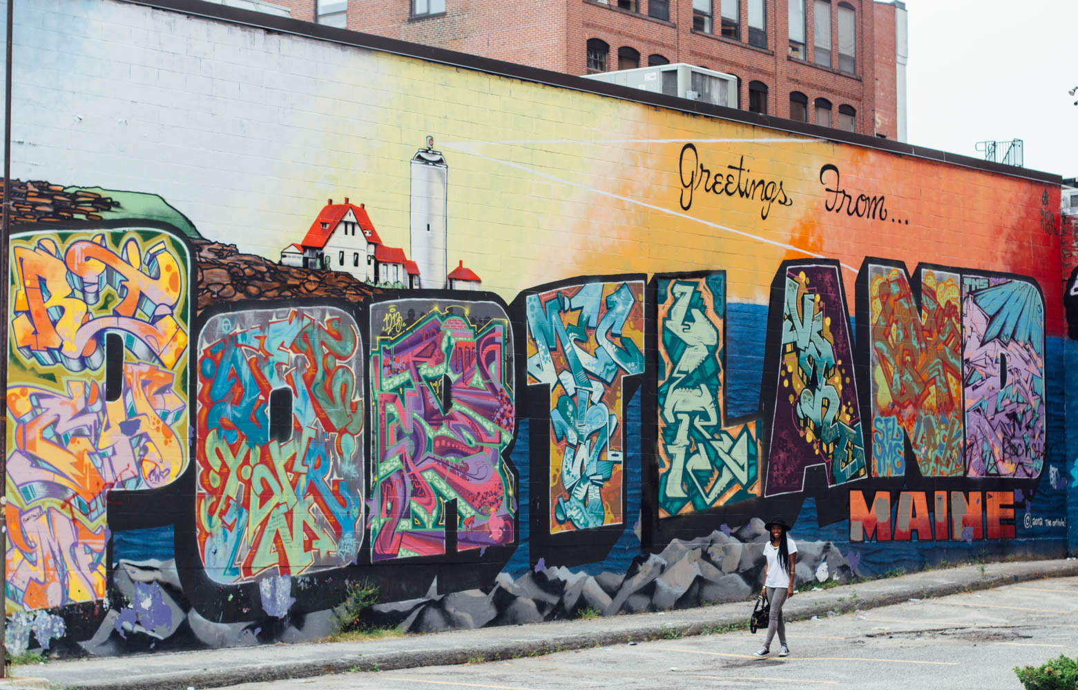 Portland street art converse all star