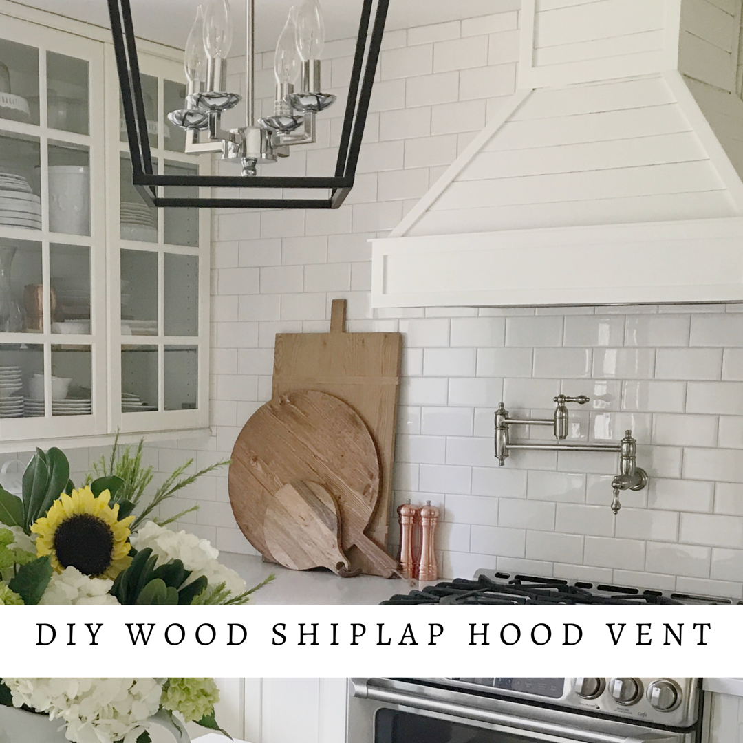 I am so excited to share with you this DIY Shiplap Hood Vent that we made using a  Broan range hoo d. We will be sharing all our tips and tricks, along with what we would have done different!