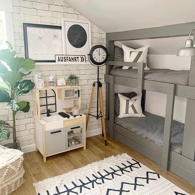 AD: The bunk room got a makeover and I couldn't wait to show you, so here is your sneak peek including the new clock from @CORTOutlet ! They have the best accessories, and you will never know what you will find! I can't wait to show you the rest ... are you ready to finally see the ladder go up?? . . #myCORTStyle #CORTOutlet #farmhouse #modernfarmhouse #fixerupper #fixerupperstyle  #farmhouseinspired #farmhousedecor #cottagestyledecor #cottagestyle #homedecor #decor #neutraldecor #shiplap #interiorstyle #interiordecor #interiordecorating #homedecorating #farmhousefresh #bhgstylemaker #diy #diyhome #whitedecor #farmhousedesign #farmhouseliving  #currentdesignsituation
