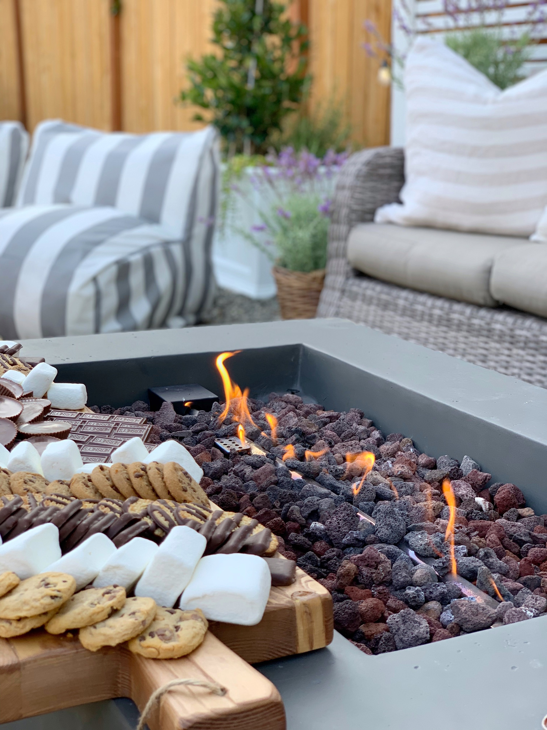 outdoor s'more charcuterie board