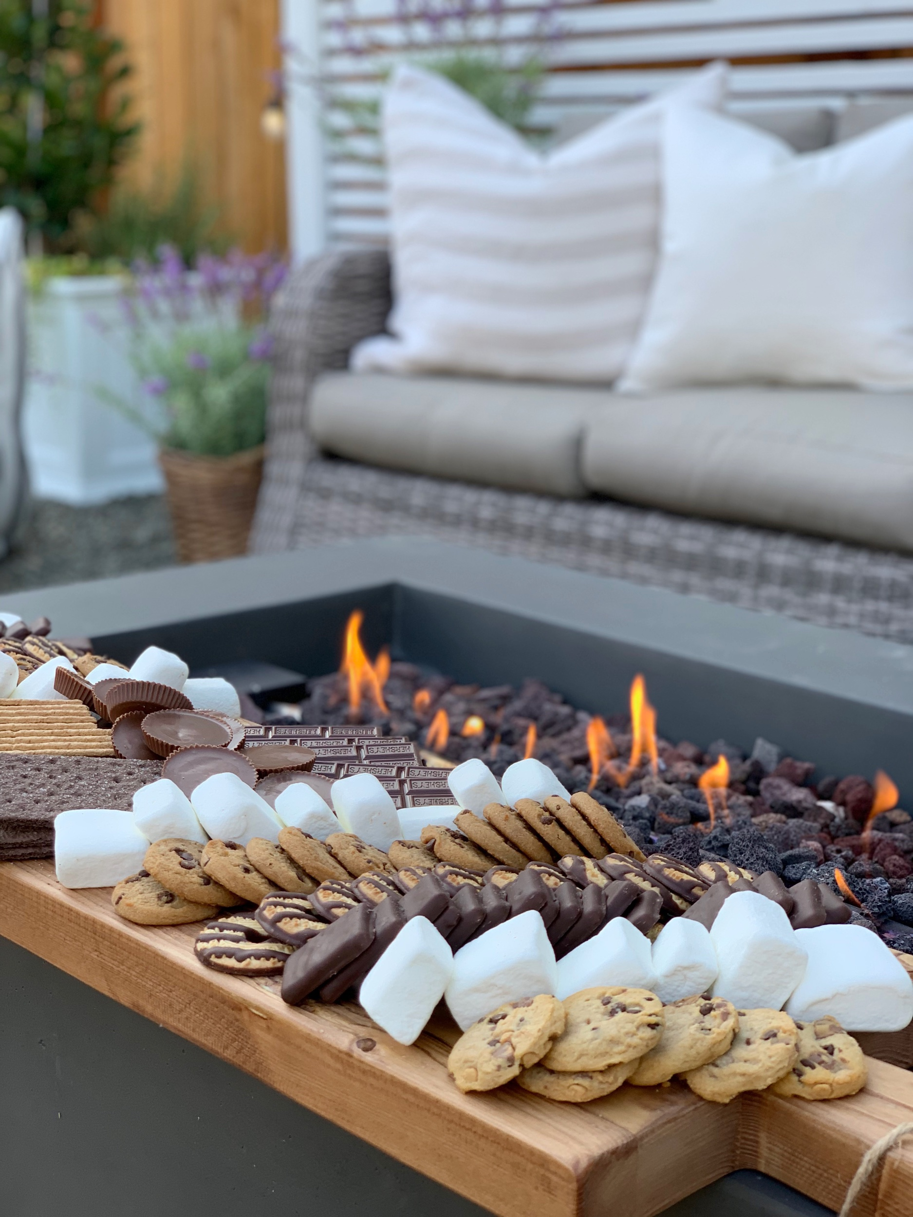 fire pit s'more charcuterie board