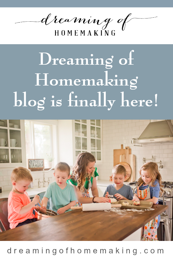 Dreaming of Homemaking blog is finally here!.png