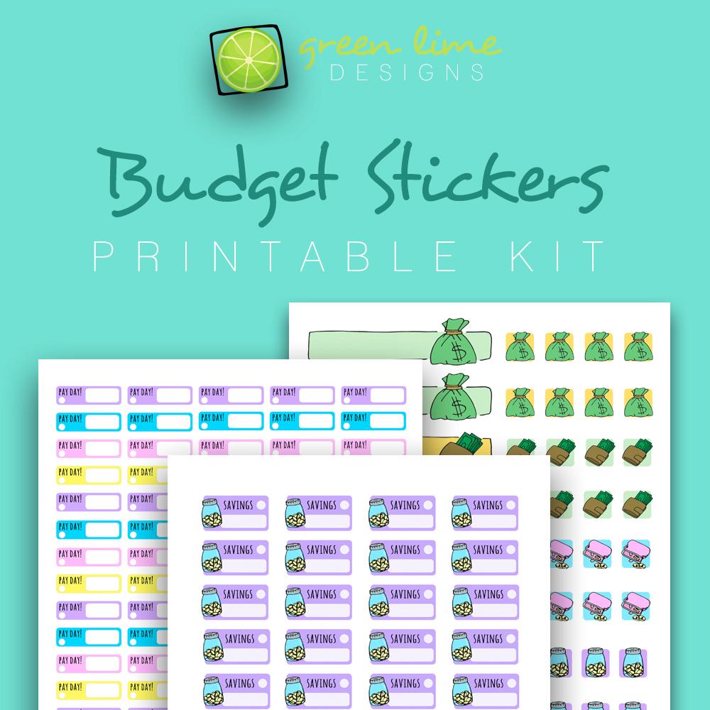Budget Stickers - Printable Kit