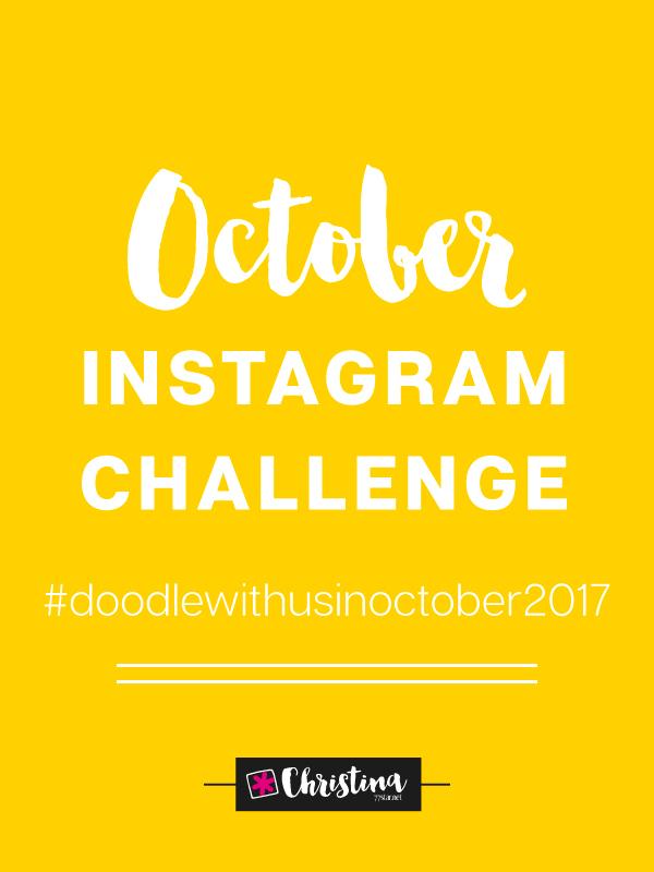 October Instagram Challenge #doodlewithusinoctober2017