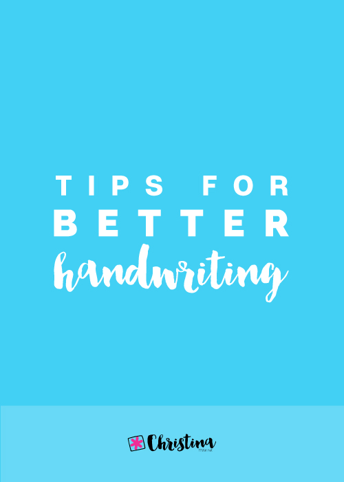 Tips for better handwriting