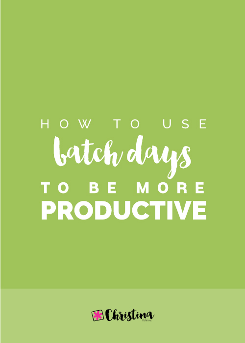 How to use batch days to be more productive