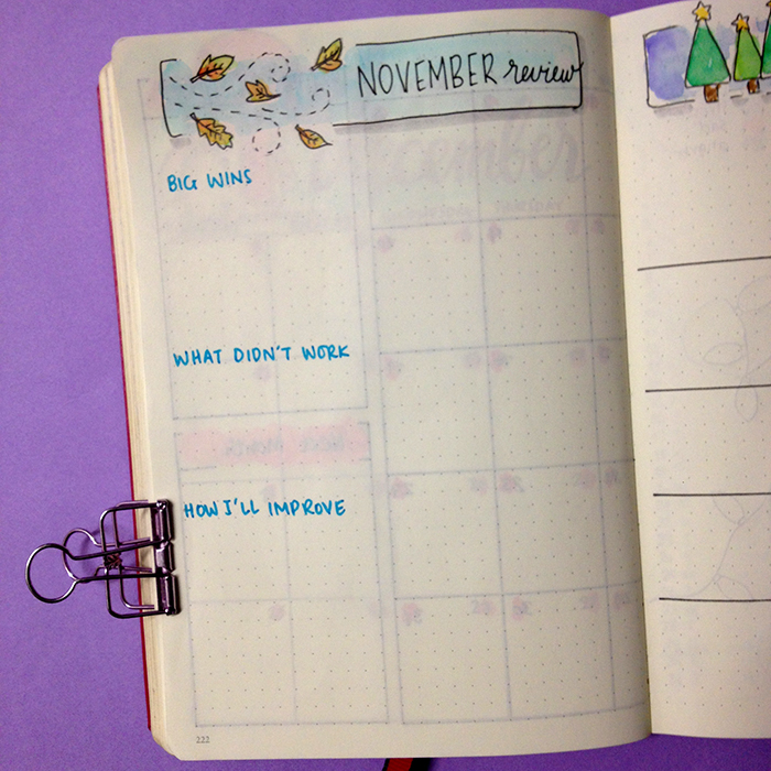 Plan With Me: December 2017 set up in my Bullet Journal - Monthly Review