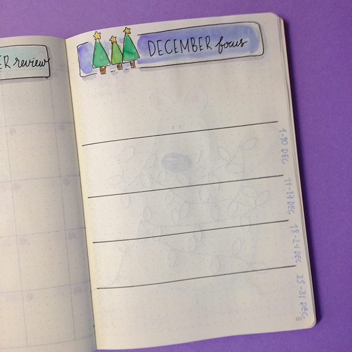 Plan With Me: December 2017 set up in my Bullet Journal - Monthly Focus