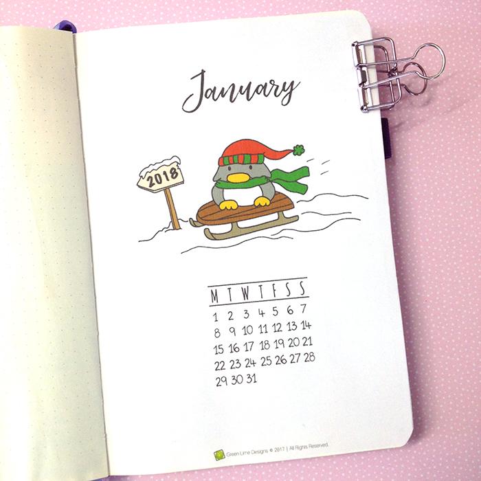 Plan With Me - January 2018 Bullet Journal Setup