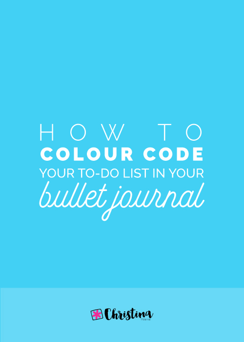 How to Colour Code your To-Do List in your Bullet Journal
