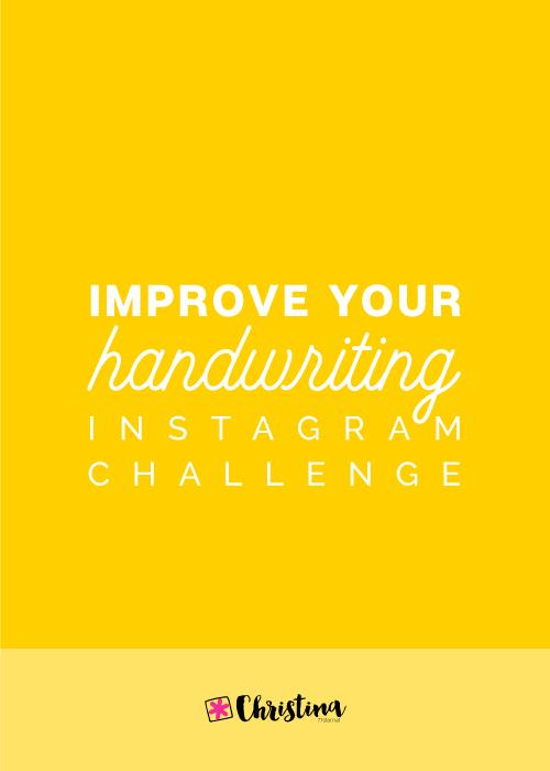 Improve Your Handwriting Challenge
