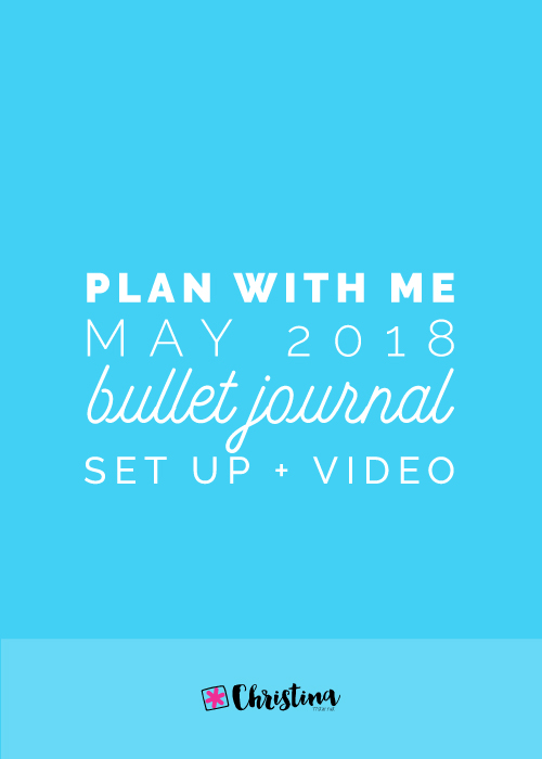 Plan With Me - May 2018 - Bullet Journal Setup