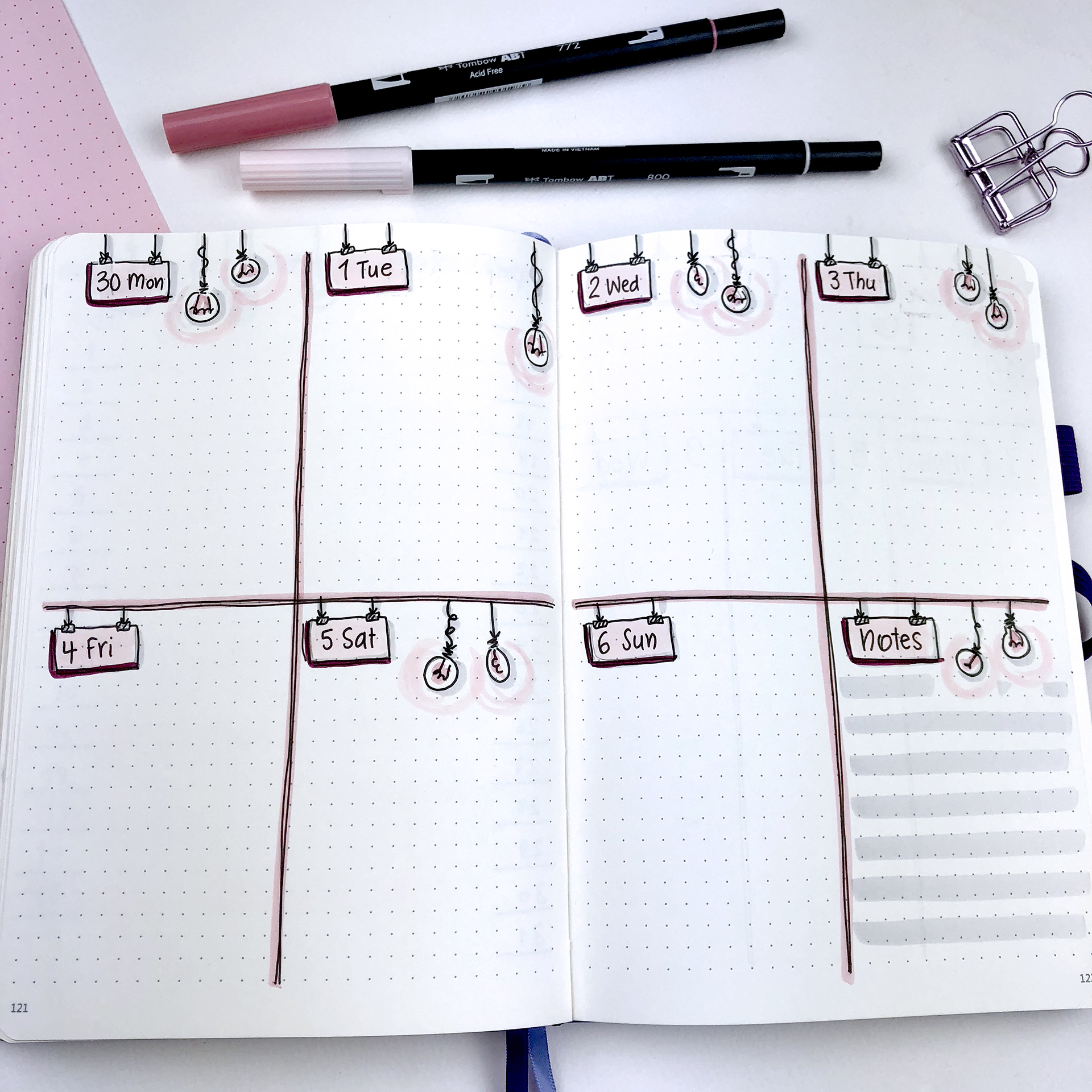 Plan With Me - May 2018 - Bullet Journal Setup - Weekly Spread