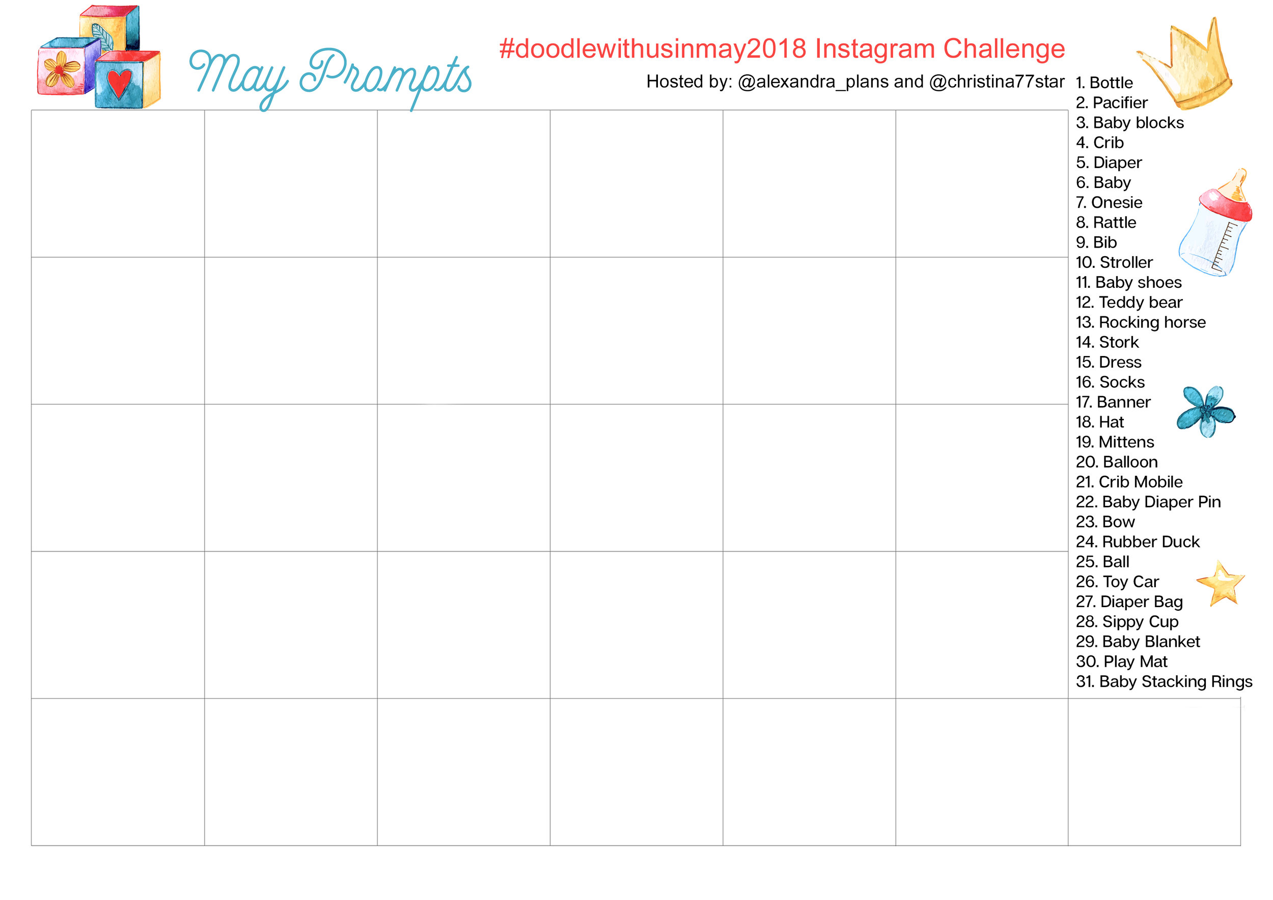 Doodle With Us Instagram Challenge - May 2018
