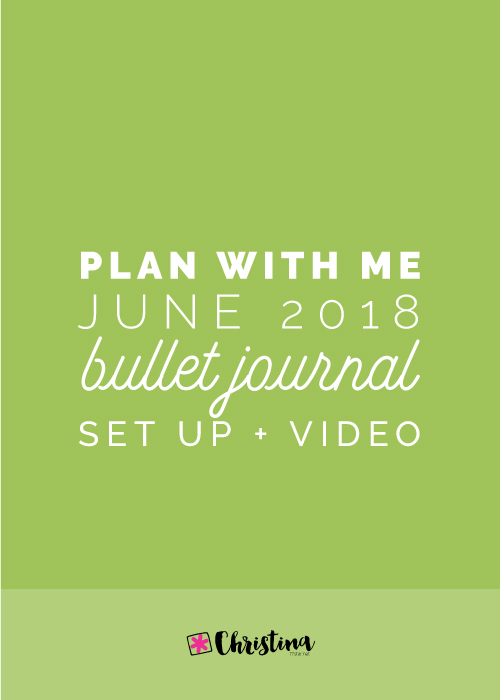 Plan With Me: My June Set Up in my Bullet Journal