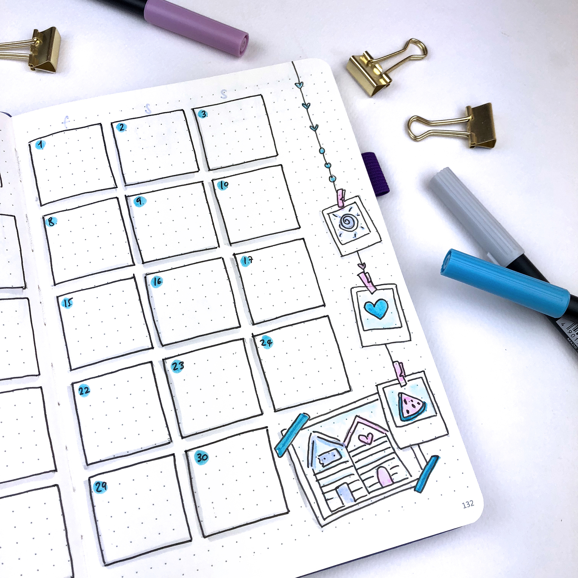 June 2018 Bullet Journal Setup