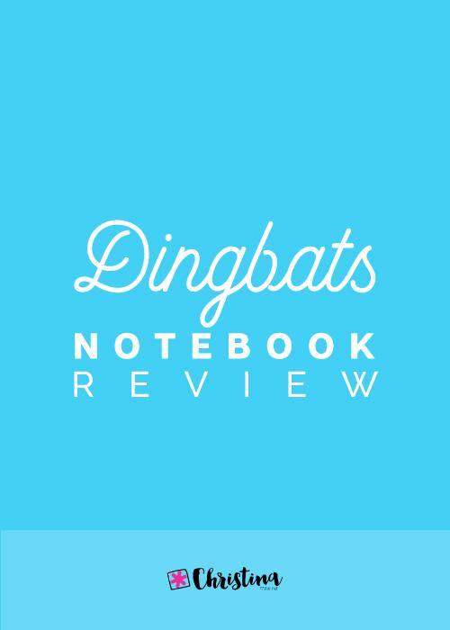 Dingbats Notebook Review - www.christina77star.net