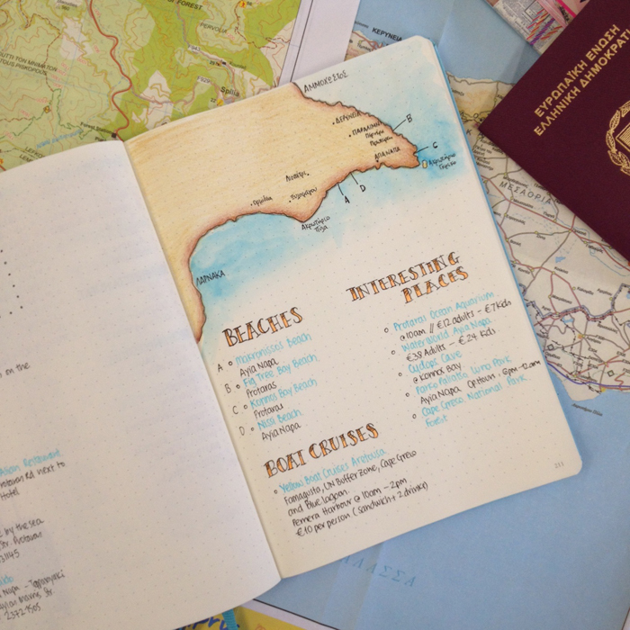 Going on Vacation with your bullet journal - planning