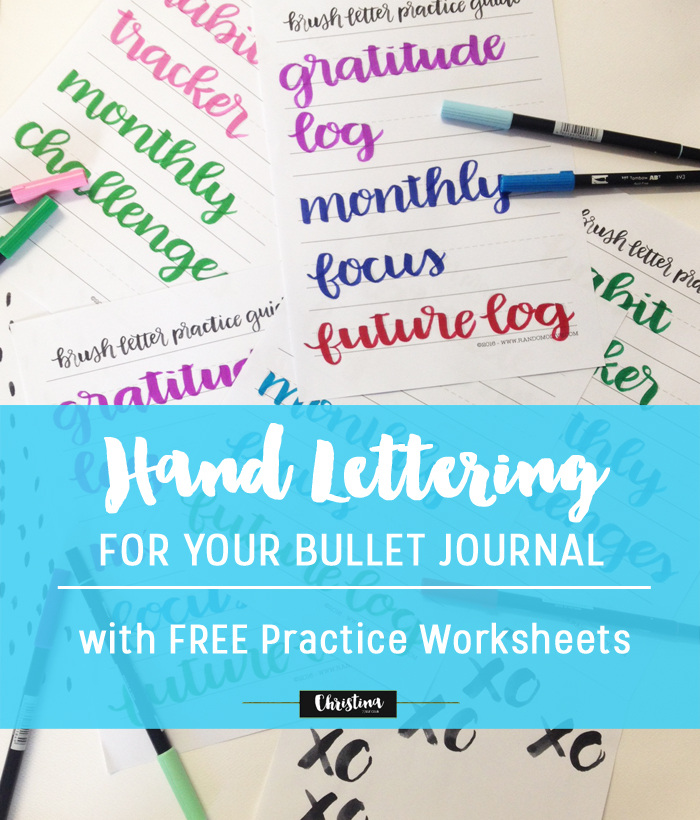 Hand Lettering for your Bullet Journal - www.christina77star.net
