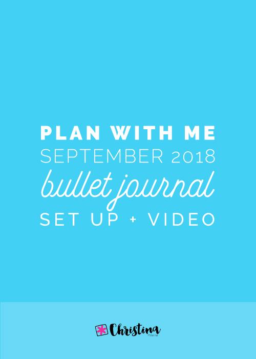 Bullet Journal Plan With Me for September 2018