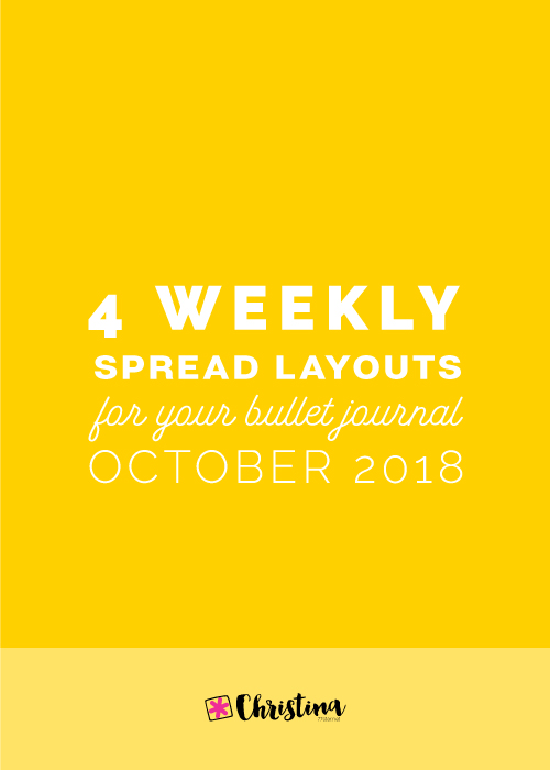 Weekly Spread Ideas for your Bullet Journal - October 2018