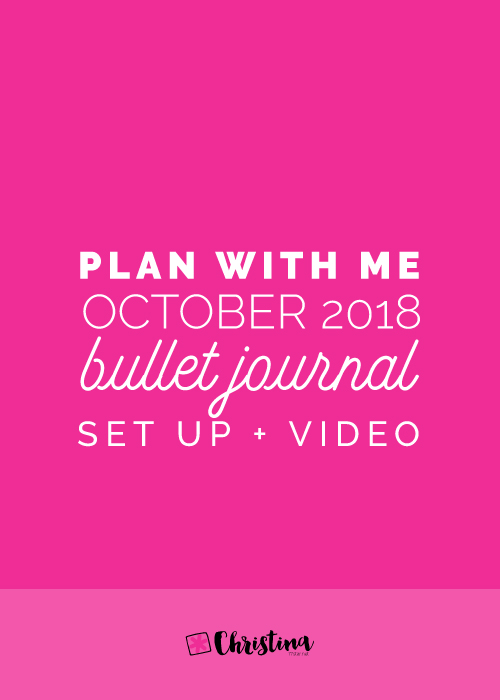 Plan With Me: My setup in my Bullet Journal for October 2018