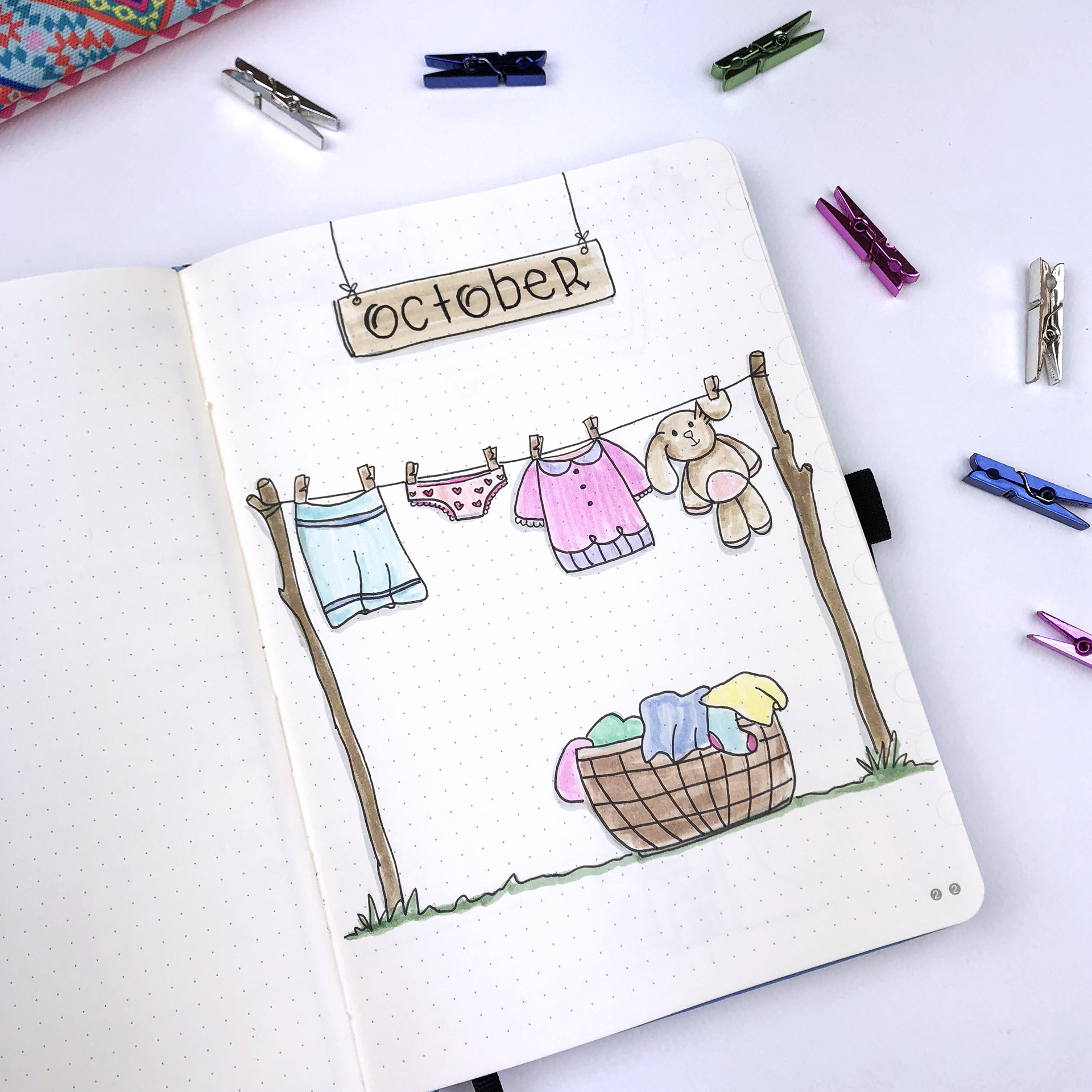 Plan With Me: October 2018 Bullet Journal setup