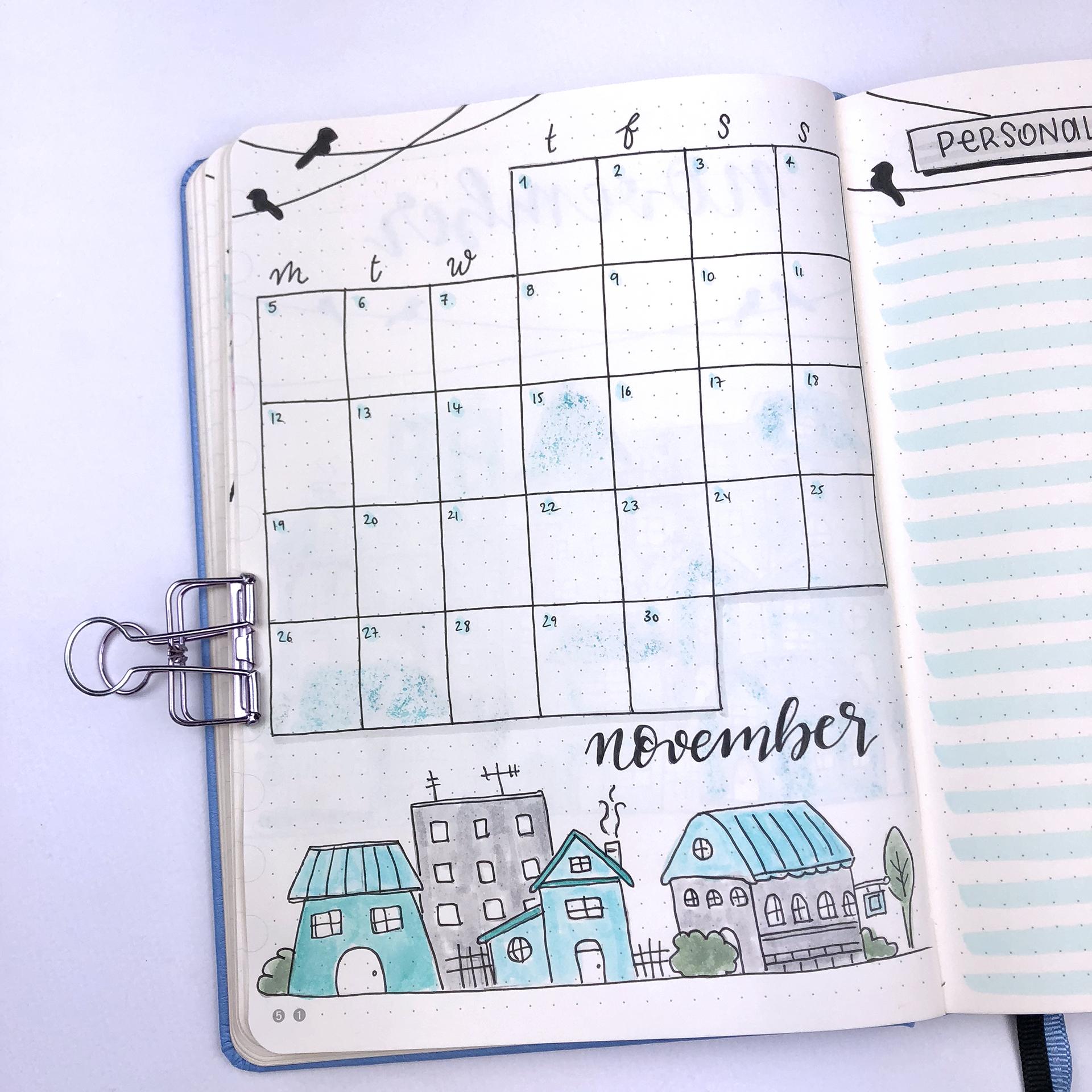 Bullet Journal Plan With Me - November 2018
