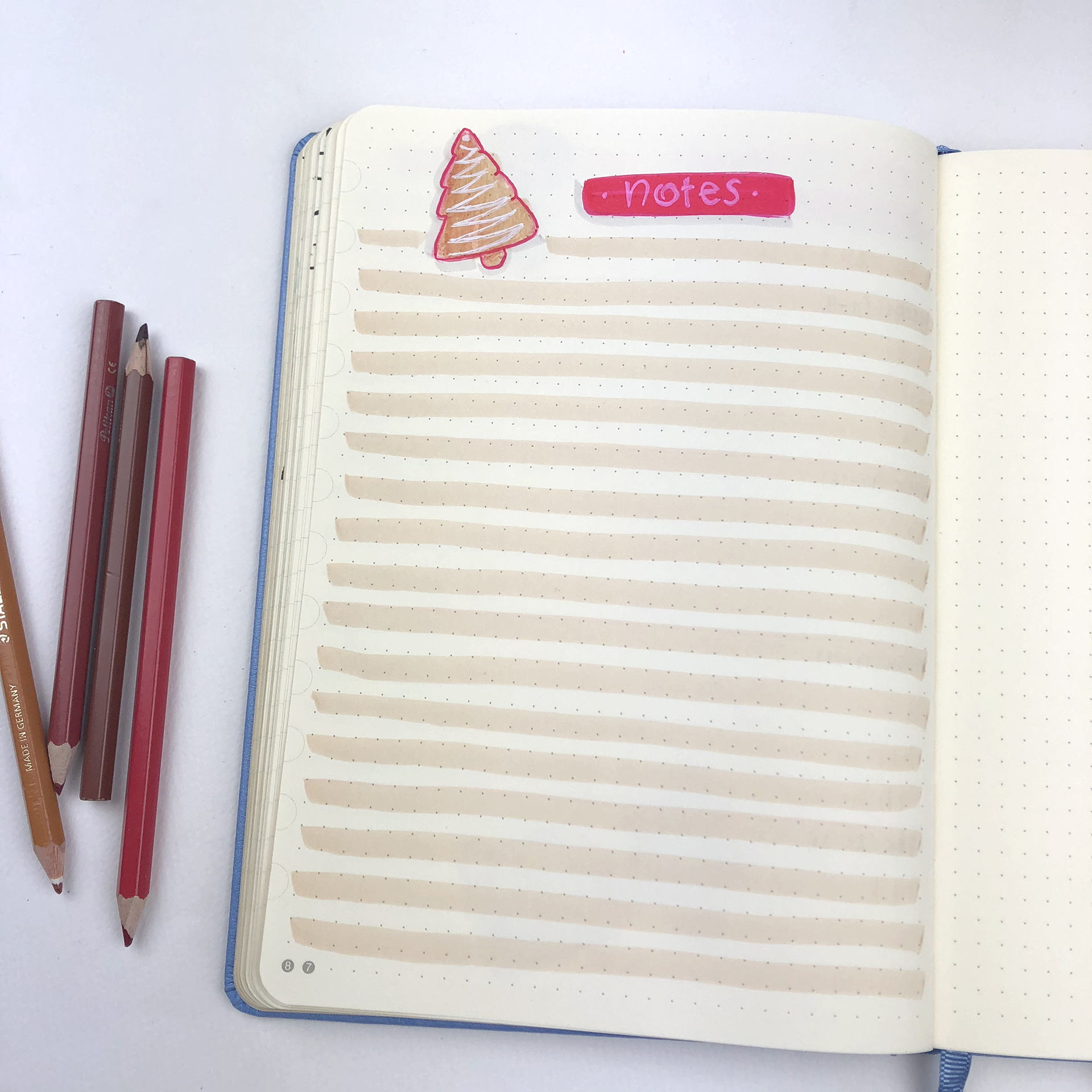 Notes - Bullet Journal Plan With Me - December 2018