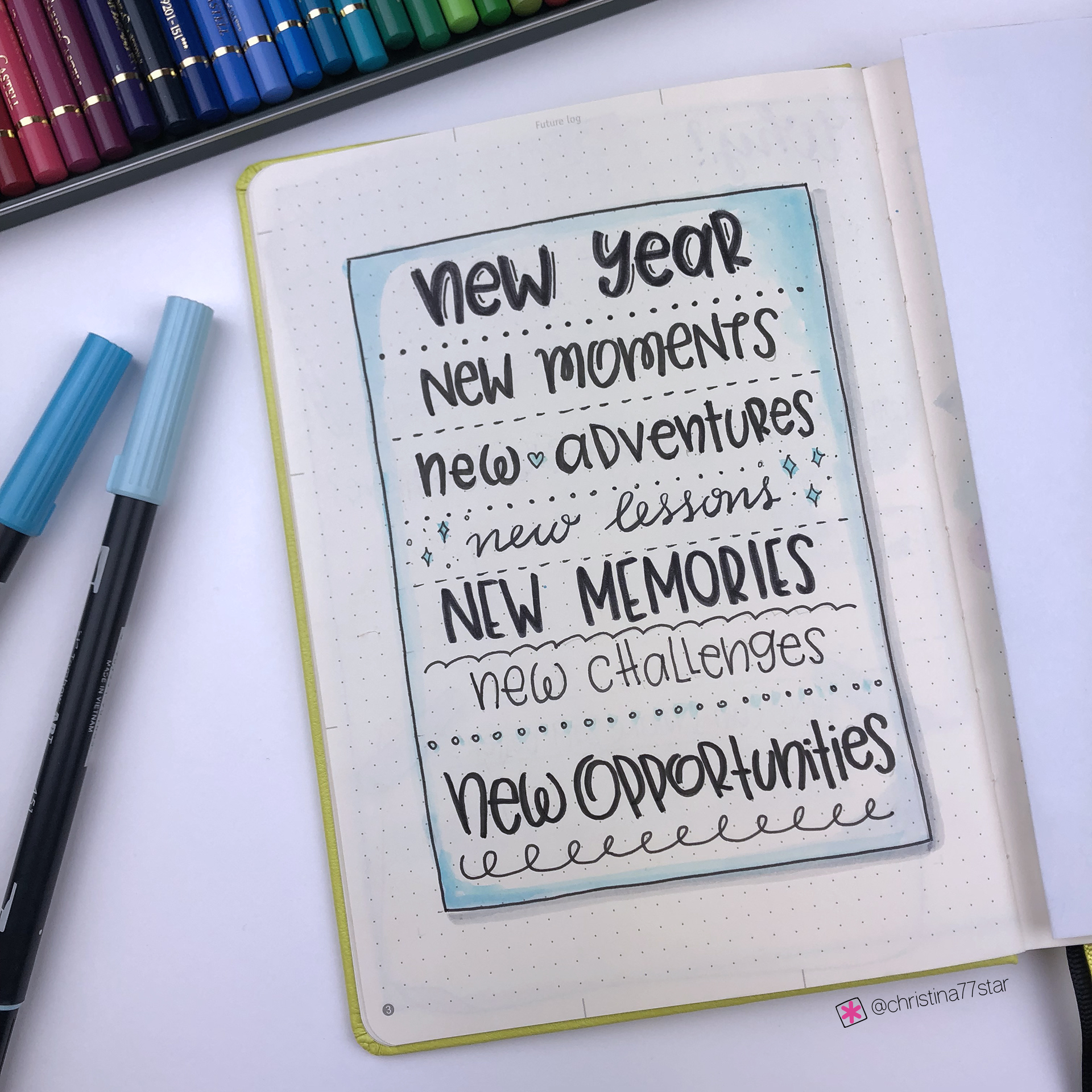 2019 bullet journal setup - Quote Page - www.christina77star.net
