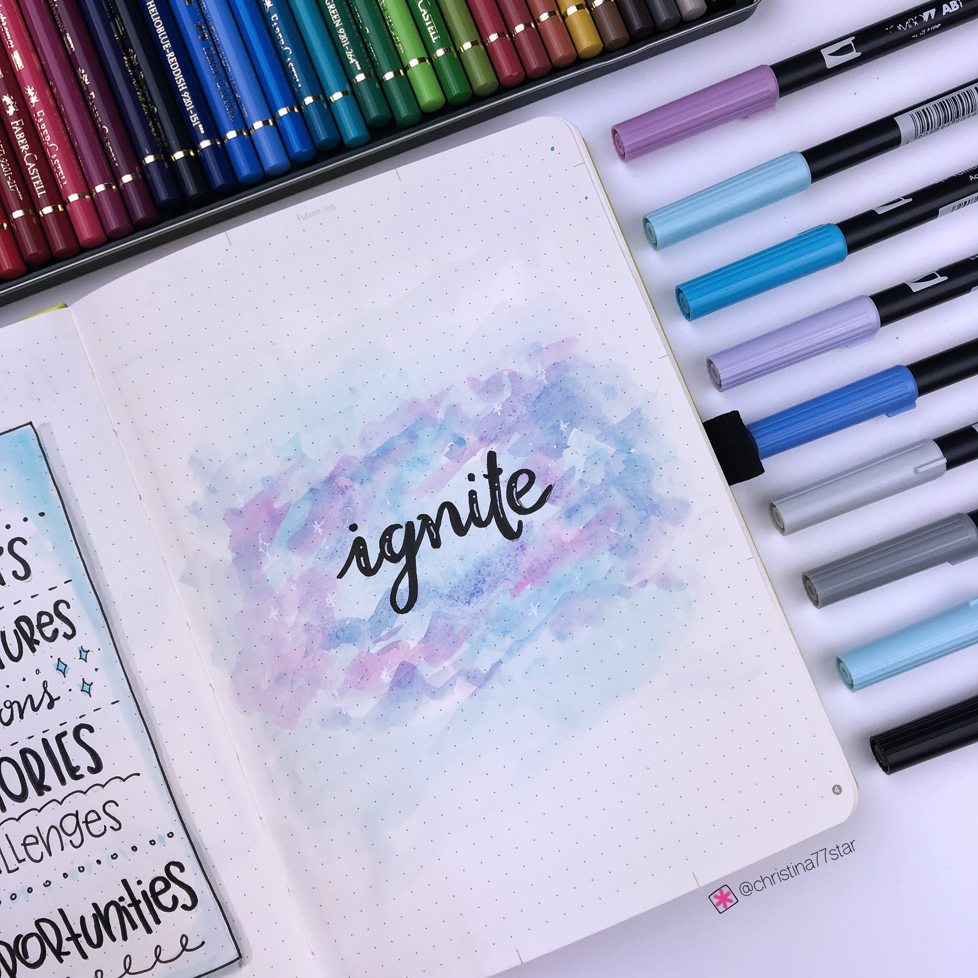 2019 bullet journal setup - Word of the Year - www.christina77star.net