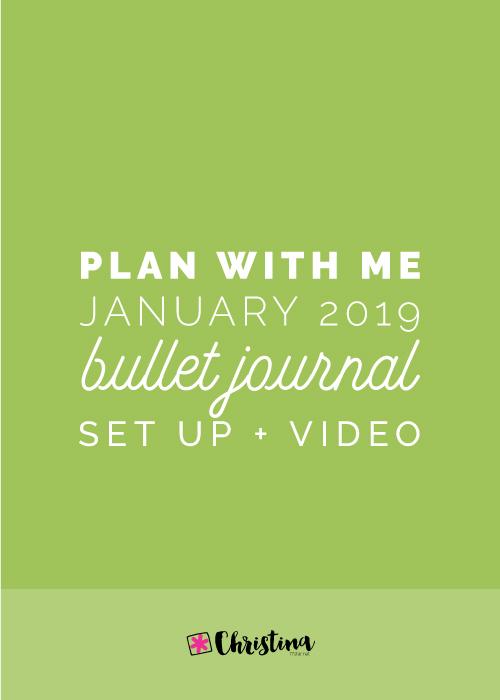 My Bullet Journal Setup for January 2019
