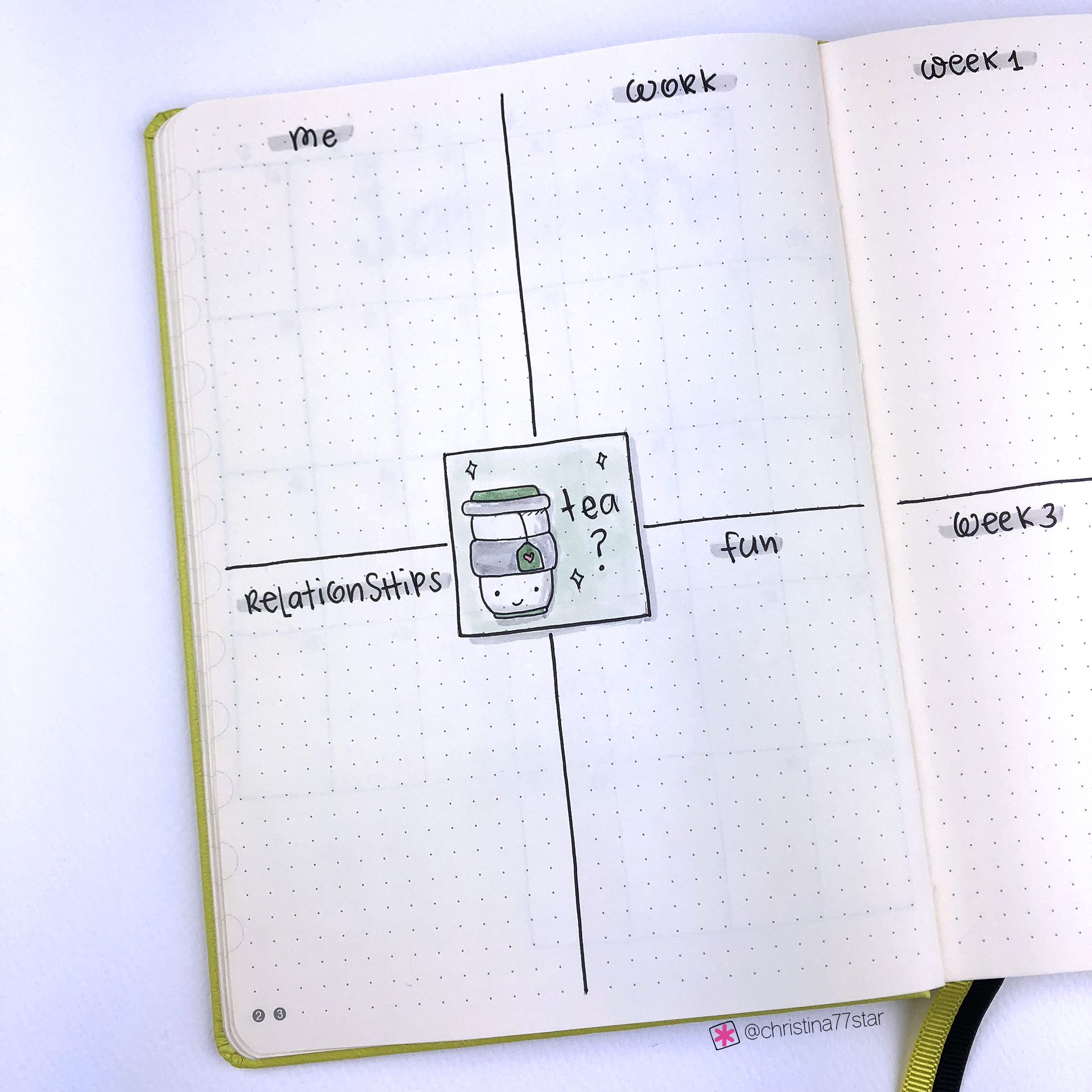 Monthly Goals - Bullet Journal Plan With Me - January 2019