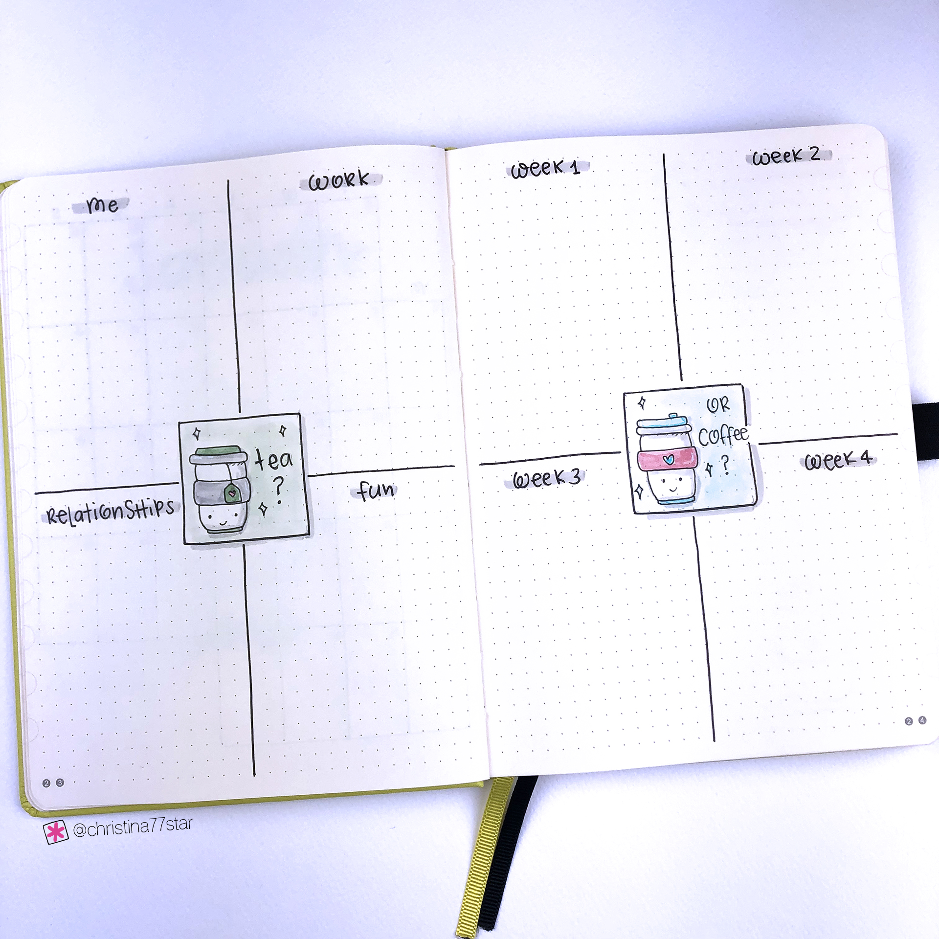 Goals and Tasks - Bullet Journal Plan With Me - January 2019