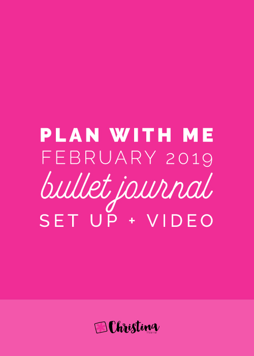 February 2019 - Bullet Journal Setup